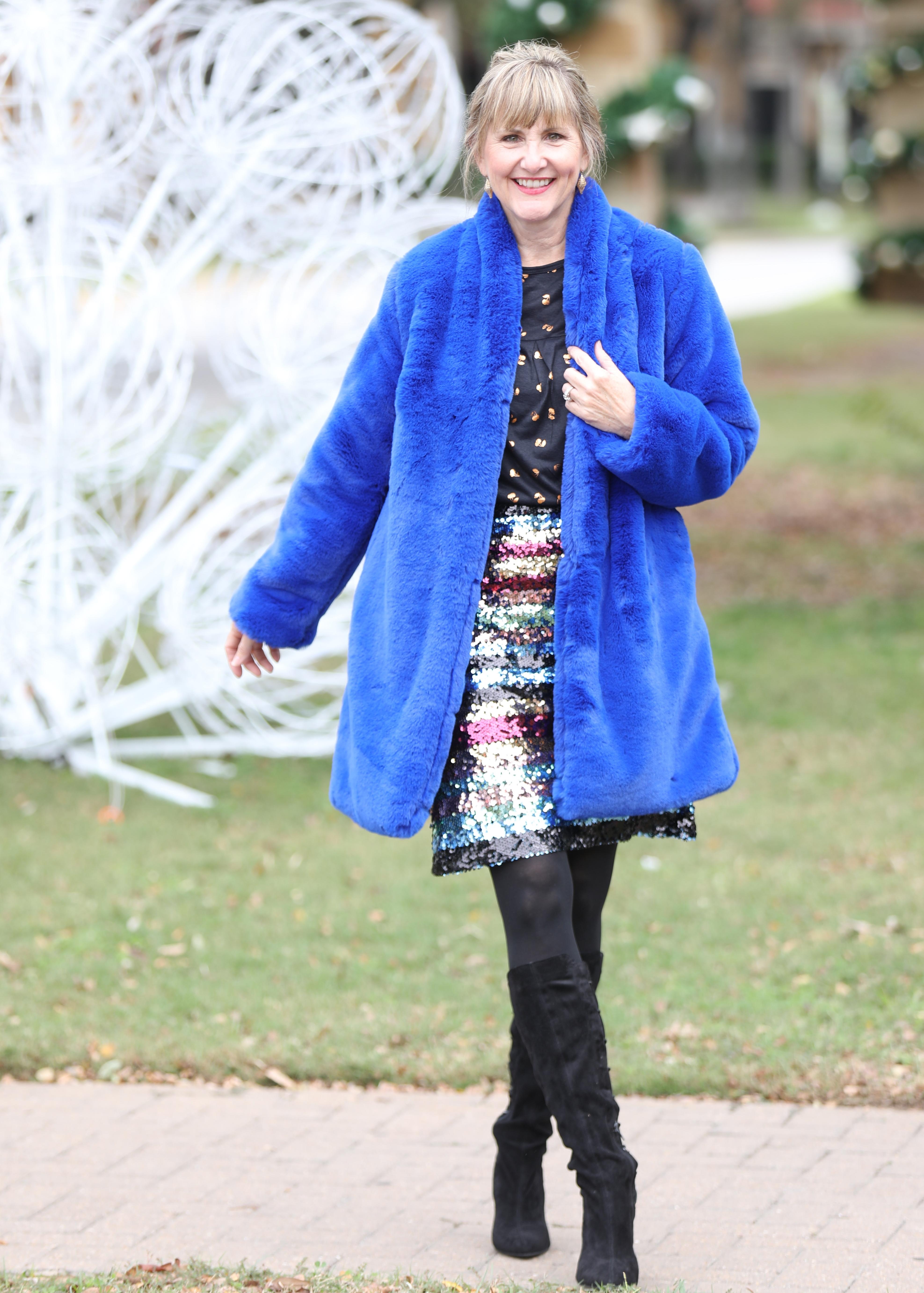 Faux FurJacket, Stein Mart, Cheryl Bemis, Fashionably Cheryl
