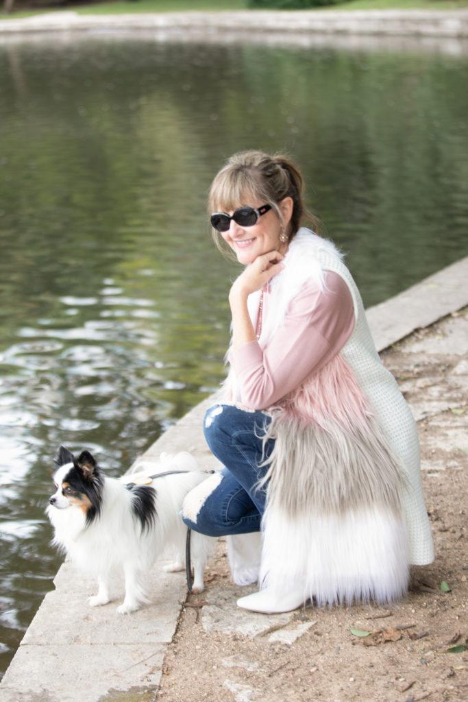 Stein Mart Faux Fur Vest, Stein Mart, Fashionably Cheryl, Austin Fashion Blogger